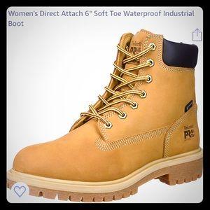 Women's soft toe Timberland boot. Waterproof.